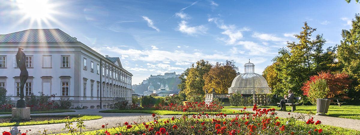 Mirabell-Garten und Festung Hohensalzburg - Ausflugsziele Stadt Salzburg